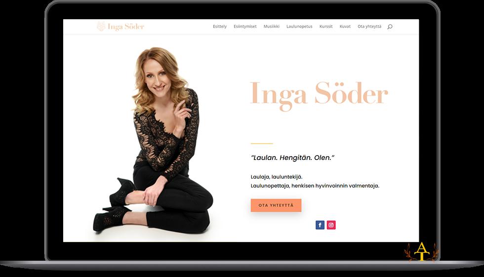 Inga Söder – laulajan sivusto